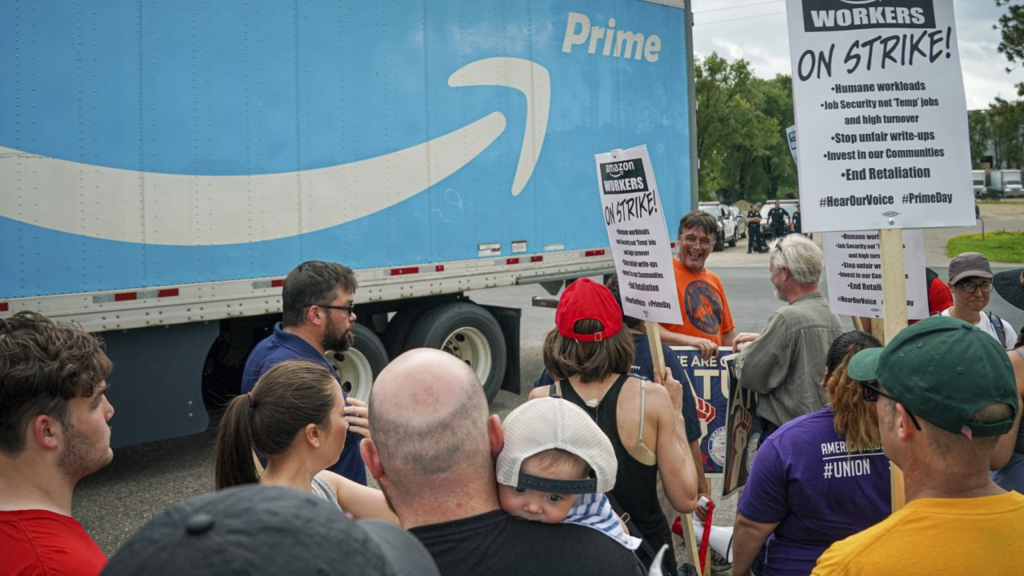 Amazon Workers On Strike