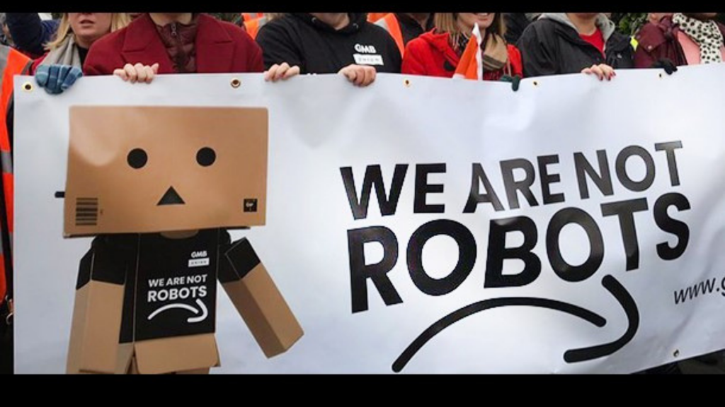 """We're humans, not robots"""