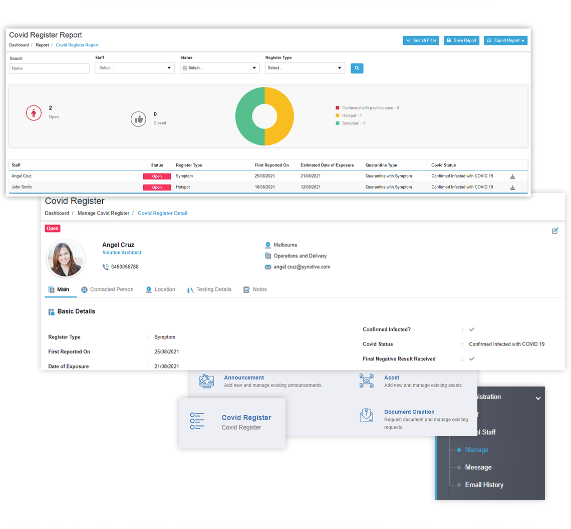 COVID 19 Employee Tracking Software