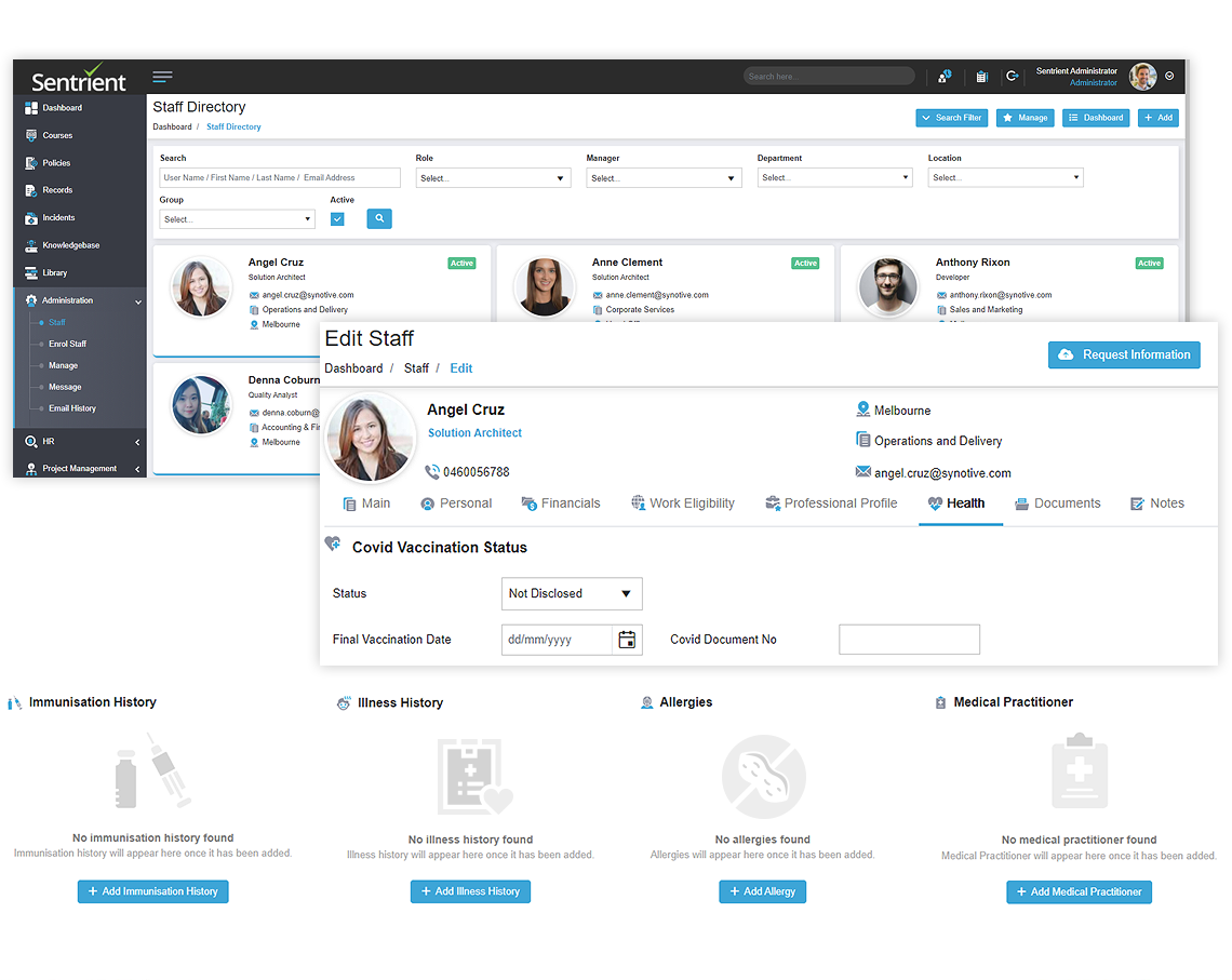 COVID 19 Management Software